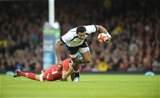 15.11.14 - Wales v Fiji - Dove Men Series - Waisea Nayacalevu of Fiji  is tackled by Justin Tipuric of Wales. (c) Huw Evans Agency