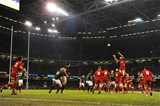 29.11.14 - Wales v South Africa - Dove Men Series - Alun Wyn Jones of Wales takes line-out ball. © Huw Evans Picture Agency