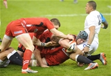 06.02.15 - Wales v England-  Dan Lydiate of Wales runs into Luther Burrell of England.