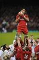 06.02.15 - Wales v England-  Taulupe Faletau of Wales wins line out ball.