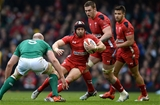 14.03.15 - Wales v Ireland - RBS 6 Nations 2015 - Leigh Halfpenny of Wales takes on Paul O'Connell of Ireland.