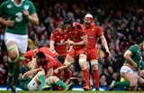 14.03.15 - Wales v Ireland - RBS 6 Nations 2015 - Luke Charteris of Wales celebrates at the final whistle.