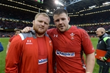 14.03.15 - Wales v Ireland - RBS 6 Nations 2015 - Samson Lee and Rob Evans at the end of the game.