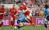 21.03.15 - Italy v Wales - RBS 6 Nations 2015 - Alun Wyn Jones of Wales is tackled by Luca Morisi of Italy.