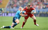 21.03.15 - Italy v Wales - RBS 6 Nations 2015 - Scott Williams of Wales is tackled by Leonardo Ghiraldini of Italy.