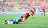 21.03.15 - Italy v Wales - RBS 6 Nations 2015 - Scott Williams of Wales scores try.