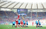 21.03.15 - Italy v Wales - RBS 6 Nations 2015 - Luke Charteris of Wales takes line-out ball.