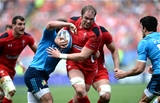 21.03.15 - Italy v Wales - RBS 6 Nations 2015 - Alun Wyn Jones of Wales is tackled by Mauro Bergamasco of Italy.