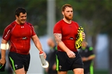 28.07.15 - Wales Rugby Camp in Qatar -Aaron Jarvis and Dan Baker during training.