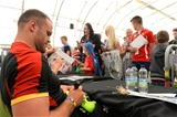 11.08.15 - Wales Rugby Signing Session in North Wales -Jamie Roberts during a signing session at Parc Eirias.