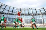 29.08.15 - Ireland v Wales - Guinness Summer Series -Alun Wyn Jones of Wales takes line out ball.