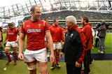 29.08.15 - Ireland v Wales - Guinness Summer Series -Alun Wyn Jones and Warren Gatland of Wales at the end of the game.