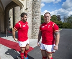 01.09.15 - Wales Rugby World Cup Squad 2015 -Scott Baldwin and Paul James.