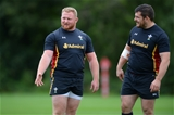 03.09.15 -  Wales Rugby Training -Samson Lee during training.