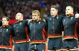 05.09.15 -  Wales v Italy - Dove Men Test 2015 -Tomas Francis during the anthems.