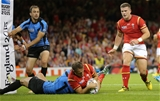 20.09.15 - Wales v Uruguay, Rugby World Cup 2015 - Cory Allen of Wales reaches out to score try