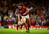 20.09.15 - Wales v Uruguay - Rugby World Cup 2015 -Cory Allen of Wales runs in to score his second try.