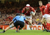 20.09.15 - Wales v Uruguay, Rugby World Cup 2015 - Jake Ball of Wales takes on Matias Beer of Uruguay