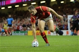 20.09.15 - Wales v Uruguay, Rugby World Cup 2015 - Cory Allen of Wales races in to score his third try
