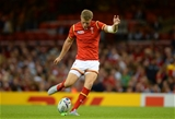 20.09.15 - Wales v Uruguay - Rugby World Cup 2015 -Rhys Priestland of Wales kicks at goal.
