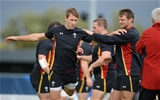24.09.15 - Wales Rugby World Cup Training -Liam Williams and Dan Biggar during training.