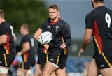 24.09.15 - Wales Rugby World Cup Training -Dan Biggar during training.