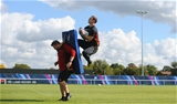25.09.15 - Wales Rugby World Cup Training -George North during training.