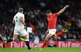 26.09.15 - England v Wales - Rugby World Cup 2015 -Dan Biggar of Wales tries a drop goal.