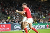26.09.15 - England v Wales, Rugby World Cup 2015 - Dan Biggar of Wales celebrates as the final whistle is blown