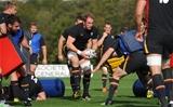 29.09.15 - Wales Rugby Training -Alun Wyn Jones during training.