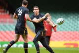 30.09.15 - Wales Rugby Training -James Hook during training.