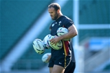 09.10.15 - Wales Rugby Training -Jamie Roberts during training.