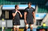 09.10.15 - Wales Rugby Training -Alun Wyn Jones and Luke Charteris during training.