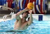 12.10.15 - Wales Rugby Pool Recovery -Luke Charteris during a pool recovery session.