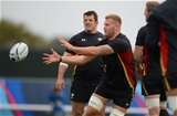 13.10.15 - Wales Rugby Training -Ross Moriarty during training.