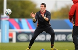 13.10.15 - Wales Rugby Training -James Hook during training.