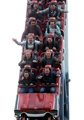 14.10.15 - Wales Rugby Squad Visit Thorpe Park -(From second row to back) Gareth Anscombe, James King, Tyler Morgan, Alex Cuthbert, Taulupe Faletau, Matthew Morgan, Eli Walker and Mike Phillips enjoy the rides at Thorpe Park.