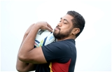 15.10.15 - Wales Rugby Training -Taulupe Faletau during training.