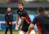 16.10.15 - Wales Rugby Training -Luke Charteris during training.