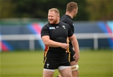 16.10.15 - Wales Rugby Training -Samson Lee during training.