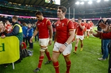 17.10.15 - South Africa v Wales - Rugby World Cup Quarter Final 2015 -Taulupe Faletau and James Hook of Wales look dejected at the end of the game.