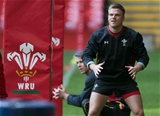 03.02.16 - Wales rugby training session, Principality Stadium - Gareth Anscombe during a training session at the Principality Stadium ahead of the Six Nations match against Ireland