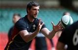 03.02.16 - Wales Rugby Training - Luke Charteris during training.