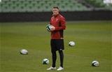 06.02.16 - Wales Rugby Training -Rhys Priestland during training.