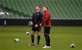 06.02.16 - Wales Rugby Training -Rhys Priestland and Dan Biggar during training.