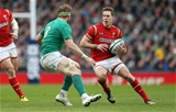 07.02.16 - Ireland v Wales - RBS 6 Nations 2016 - Liam Williams of Wales takes on Jamie Heaslip of Ireland.