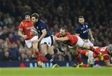 13.02.16 - Wales v Scotland, RBS 6 Nations 2016 - Sean Lamont of Scotland gets away from Ken Owens of Wales