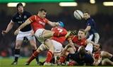 13.02.16 - Wales v Scotland, RBS 6 Nations 2016 - Gareth Davies of Wales kicks clear