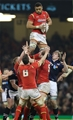 13.02.16 - Wales v Scotland, RBS 6 Nations 2016 - Taulupe Faletau of Wales wins line out