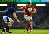 13.02.16 - Wales v Scotland - RBS 6 Nations 2016 -Taulupe Faletau of Wales is tackled by Alasdair Dickinson of Scotland.
